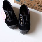 Cienta VELOUR DECK SHOES NEGRO(21(12.5cm)〜32(20cm)サイズ展開)