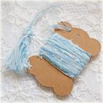 §koko§ 引き揃え糸カード ~吹き抜ける夏の風~オリジナル糸 ファンシー ラッピング レース タッセル