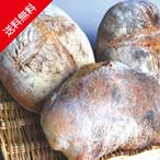火の谷石窯パン3種詰め合わせ【天然酵母パン】【送料無料(但し北海道、沖縄県宛の場合、追加送料)】