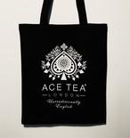 ACE TEA LONDON コットン トートバッグ S(ブラック)