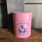 水色レコード オリジナル缶(ピンクと深い水色)