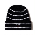 Core Logo Stripe Beanie(Black)