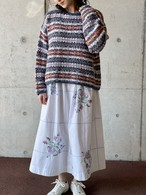 Vintage  Fair Isle Cotton Knit Sweater Made In USA