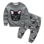 新生児キッズベイビーガールズロングスリーブTシャツ+パンツ2PCS衣装セット