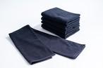 ★今だけ送料無料★ kainoo 黒 フェイスタオル ロングサイズ 約34cm×90cm 5枚セット