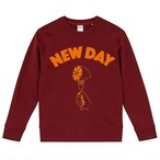 NEW DAY Sweat < Bargundy >