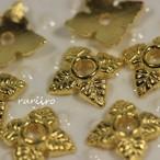 ビーズキャップ&コーンビーズキャップ花, ゴールド 6x6x2㎜【k28】50個