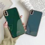 【オーダー商品】Bluegrey green metal side iphone case