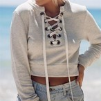 Lace up Sweatshirt 25516