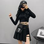【bottoms】ストリート系切り替えファッションスカート21733957