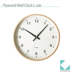 KATOMOKU plywood clock km-33L