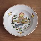 【ラトビア】 スーププレート キッズプレート(ねこ柄) 旧ソ連 USSR