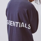 FOG ESSENTIALS / Boxy Graphic Long Sleeve T-Shirt / NAVY