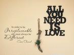 All You Need Is Love Wood Wall Objet |インスタでも話題の海外セレブ系レディースファッション Carpe Diem