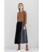 WRAP PLEAT SKIRT / SALT + JAPAN