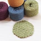 [動画付き編み物キット]デンマークのコットンウールで編むリフ編みコースター