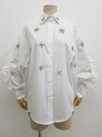 PRDフリルジュエルシャツ ブラウス シャツ 韓国ファッション