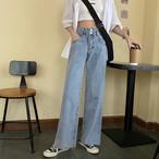 〈ランキング7位〉デニムストレートパンツ【denim straight pants】