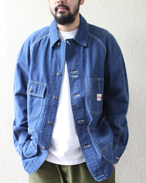 OLD TEXTURE COVERALL JACKET(INDIGO)