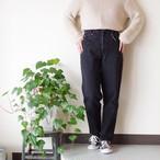 Denim Pants / テーパード デニムパンツ / 黒 ブラック