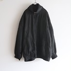 silk black blouson