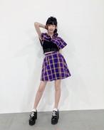 【受注生産】パープルチェックセットアップ