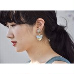 tiravisù【 rose brawn shell _ moca _ earring 】vintage handmade イヤリング japan