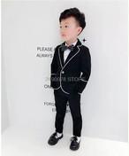 男の子・ブラックポップスーツ