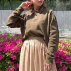 """Ralph Lauren"" remake open shoulder tops -khaki-"