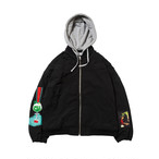 EVISEN CHERRY POP DERBY JACKET BLACK L