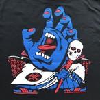 青ハンドデビルTシャツ ( 黒ボディ )