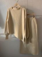 アンバランスニットセットアップ ニット セーター ニットセットアップ セットアップ 韓国ファッション