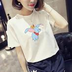 【tops】動物柄丸ネック可愛いスタイル半袖合わせやすいTシャツ