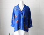 lapiz blue china silk shirts