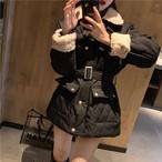 【アウター】ファッション無地切り替えダウンコート25059627