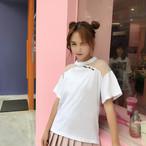 【新作10%off】shoulder lace t shirts 2460