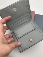 二つ折り財布☆本革☆スモーキー色