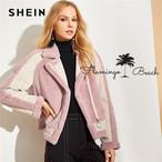 【FlamingoBeach】pink boa jacket
