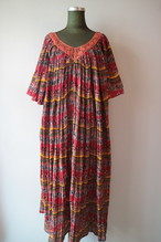 Ethnic gathered onepiece