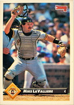 MLBカード 93DONRUSS Mike La Valliere #306 PIRATES