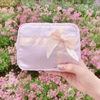 Satin ribbon pouch