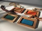 木のパスケース(ネームホルダー)wood pass case