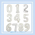 【シルバー】数字バルーン100㎝  誕生日 お祝い プレゼント 飾り装飾