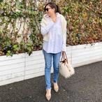 【予約販売】KU-UM×chiyo THOMAS MASONワイヤーシャツ ホワイト