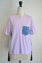 【RehersalL】USEDポケットラインT( PUR) /【リハーズオール】ユーズドポケット ラインTシャツ(パープル)