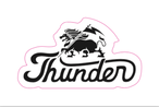 THUNDER ORIGINAL STICKER 70×40mm