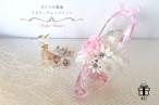 5色展開【ピンク×ホワイト】ガラスの靴風✳︎アクリルハイヒールフラワーアレンジメント✳︎プリザーブドフラワー 専用ボックス代・ラッピング代込み