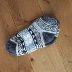 【ロシア】 厚手靴下 (グレー) 25cm くるぶし くつした くつ下 ウール