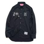 EFFECTEN/エフェクテン satin 'skull&Spider'shirts