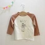 30%OFF!¥1620⇒1134韓国子供服☆90~130㎝ Hi長袖Tシャツ